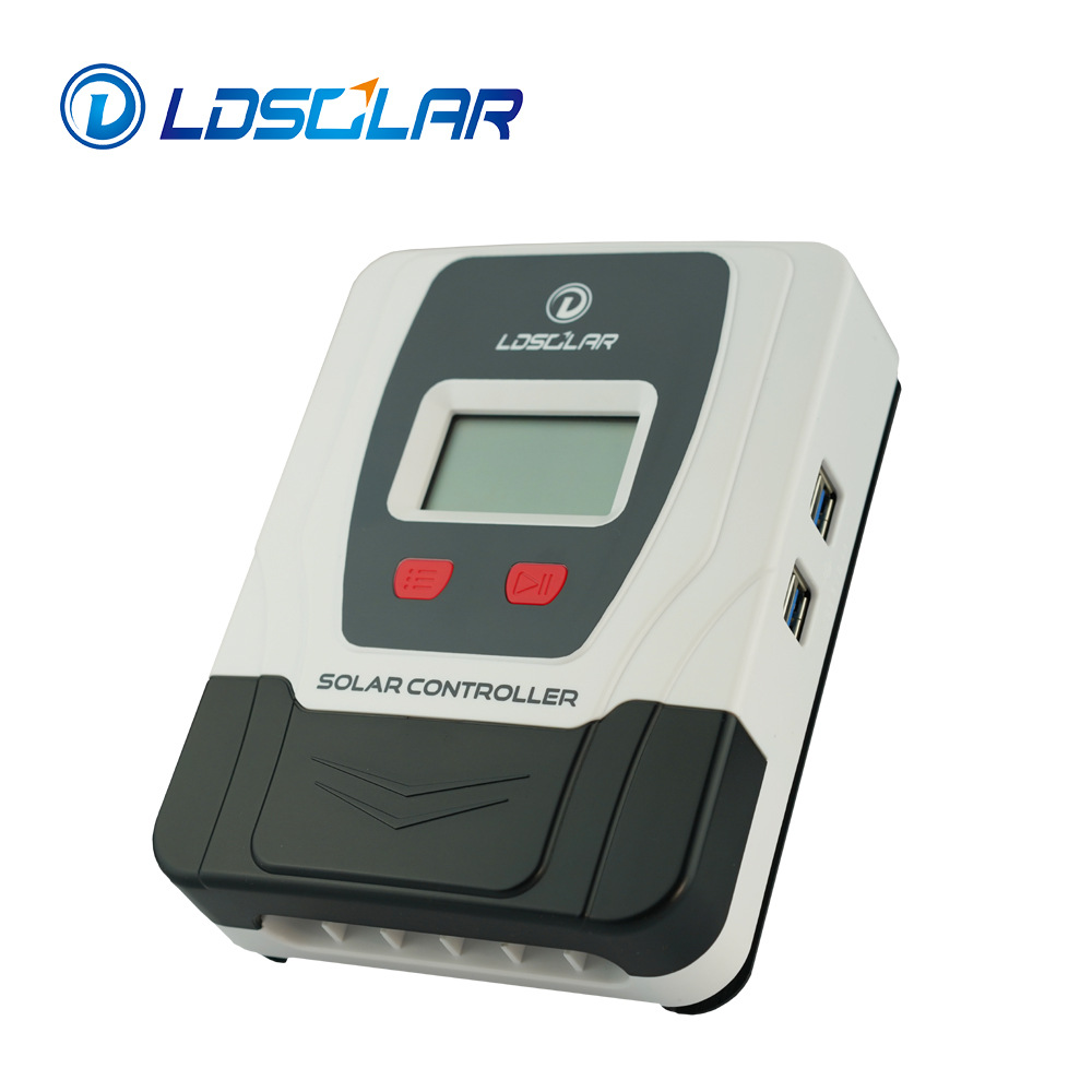 LDSOLAR factory direct sales PWM solar controller 12/24V 40A PWM controller 4 USB outputs