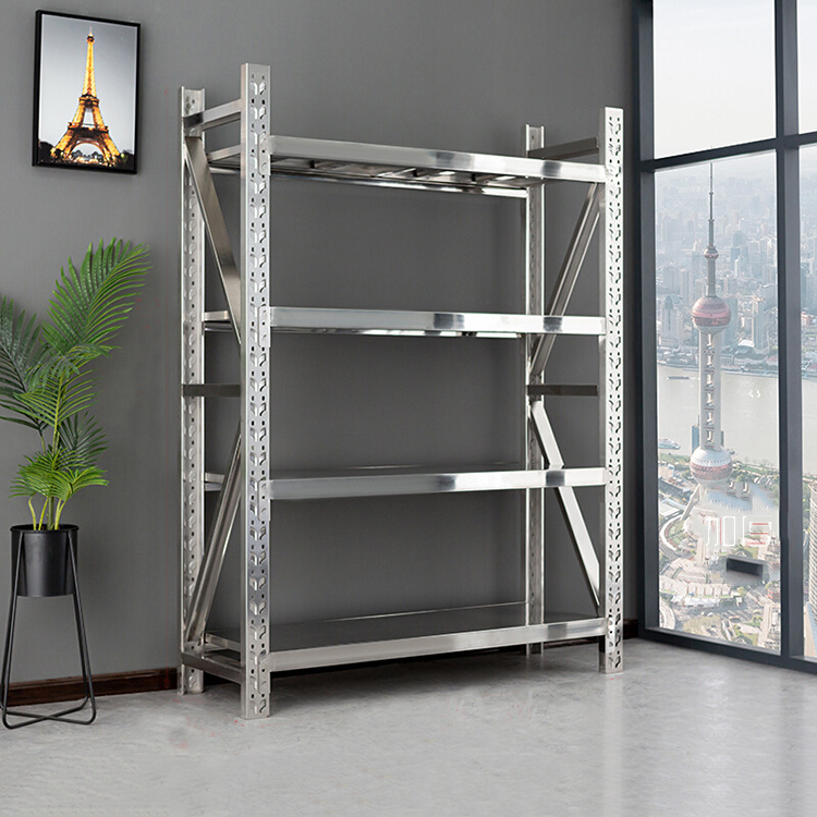 SHENGYI Stainless steel heavy storage rack commercial multi shelf cold storage food factory warehous