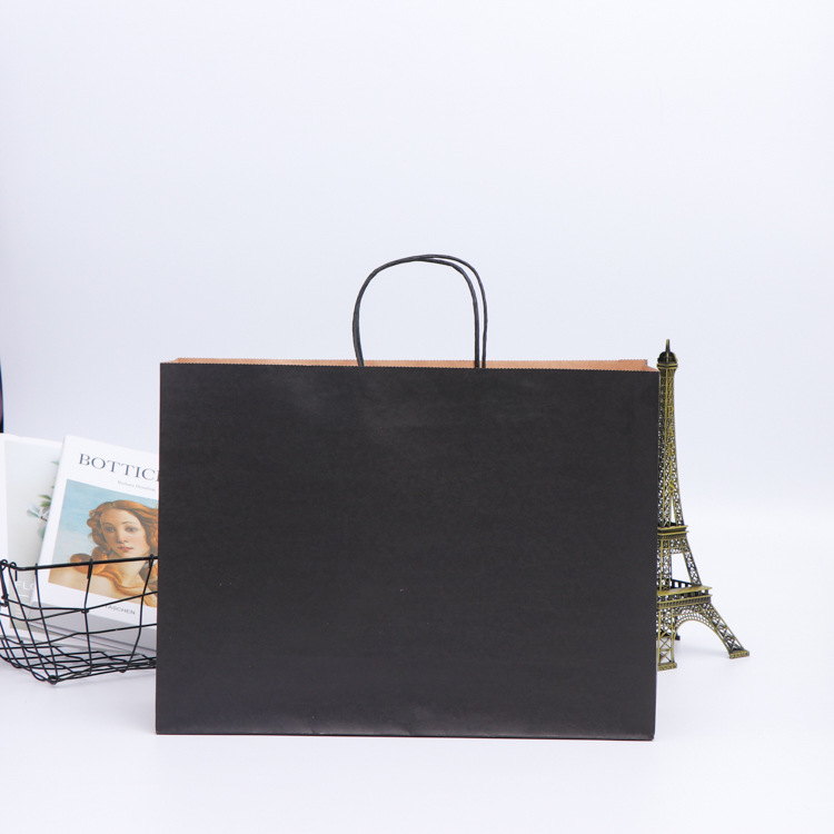 Kraft paper bag clothing food tote bag color white thickened gift ad