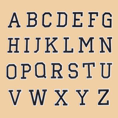 YUANDA phù hiệu vải Yuanda bảng chữ cái tiếng Anh series dính thêu vải dán miếng dán DIY miếng dán m