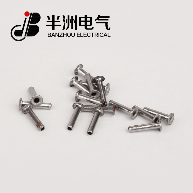 BANZHOU Manufacturers supply 1.5*7.5 iron eyelet hollow rivets, customized tubular hollow rivets