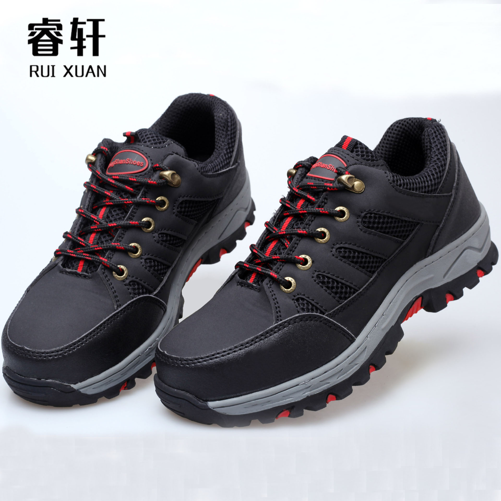 RUIXUAN Steel-toed Kevlar anti-puncture middle and low-top protective shoes Summer work shoes