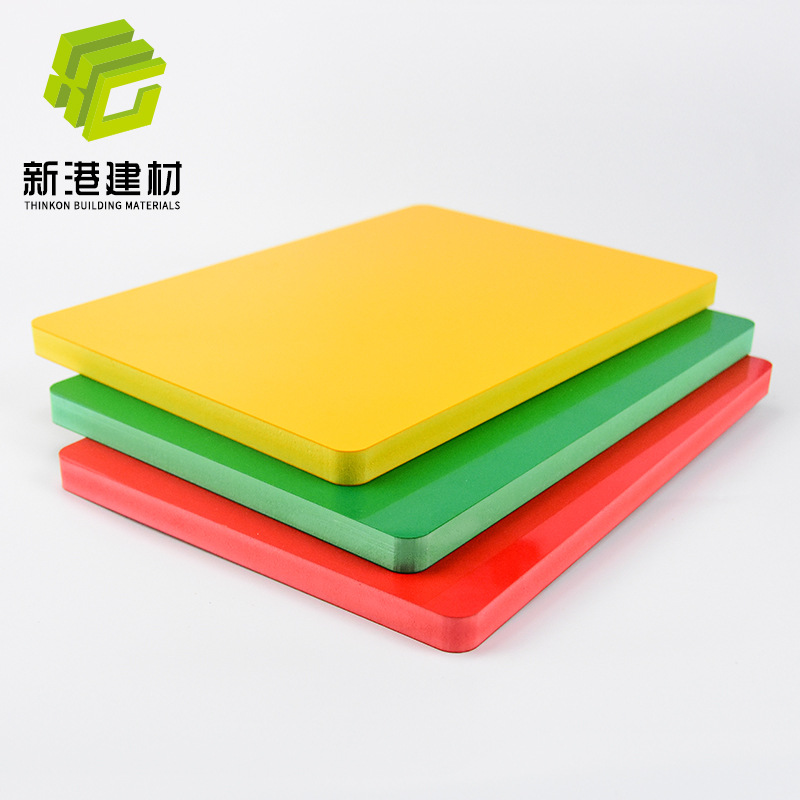 XINGANG PVC co-extruded foam board Andy board color Chevron board processing UV custom high-density