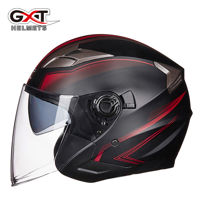 GXT 708 electric battery car helmet double lens men and women personality half helmet four seasons h