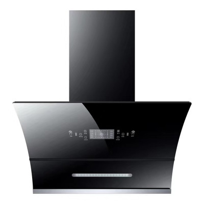 Side suction range hood double motor automatic opening and closing range hood