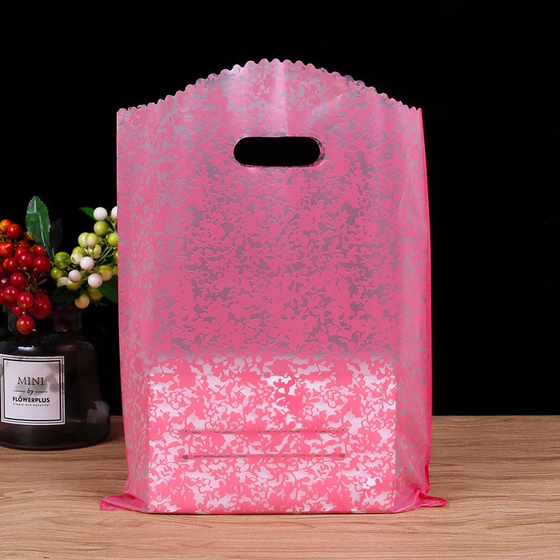 Custom made clothing store bag packing bag medium small size gift bag gift bag high grade hand bag p
