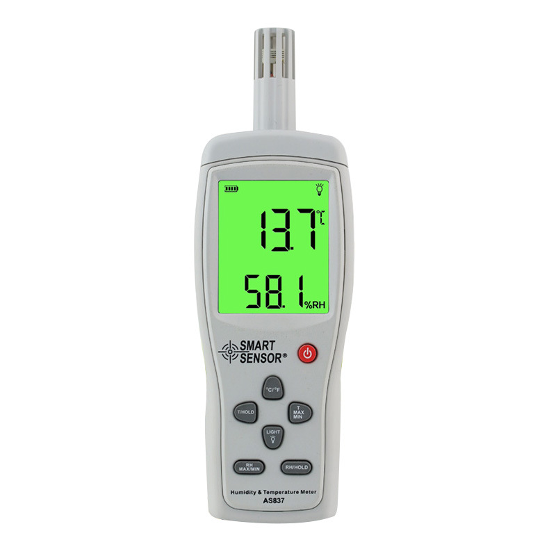 SMART Xima AS837 high-precision digital thermometer and hygrometer industrial temperature and humidi