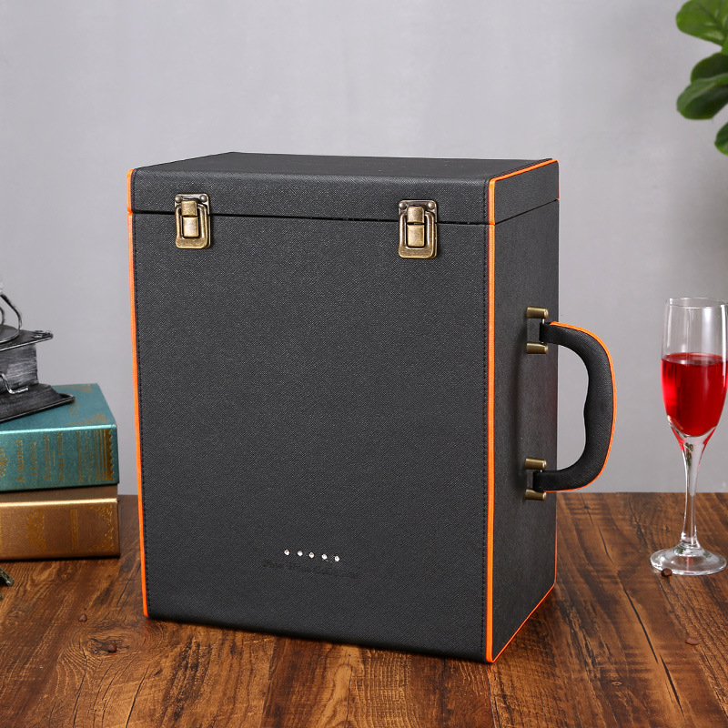 GUOMI Six bottles of wine gift box packaging leather box 6 bottles of wine box gift box in stock