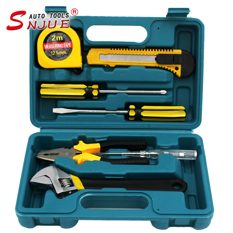 SNJUE Promotion gift combination toolbox set 8-piece set of vehicle hardware tools hand tools wrench