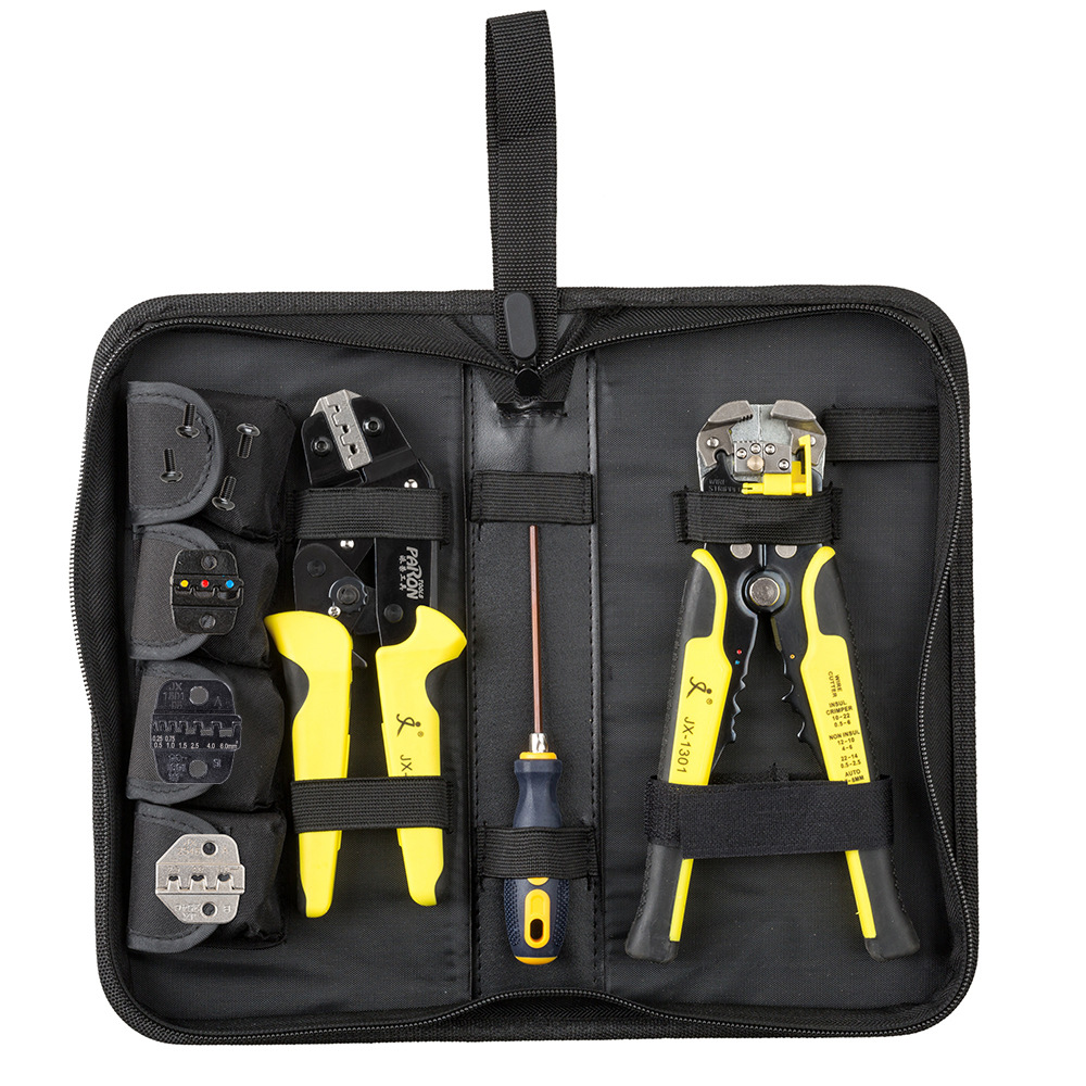 PARON Crimping die 4 in 1 multi-specification ratchet, labor-saving crimping tool set, equipped with