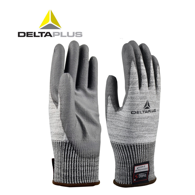 Delta 202011 wear-resistant work gloves grade 4 PU coated cut-resistant gloves non-slip Zhuhai labor