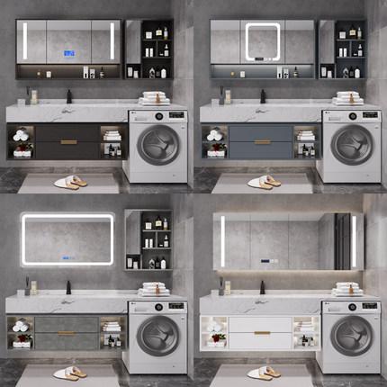Tủ phòng tắm  Bắc Âu máy giặt một tủ ban công kết hợp đối tác phòng tắm tủ phòng tắm bồn rửa chậu rử