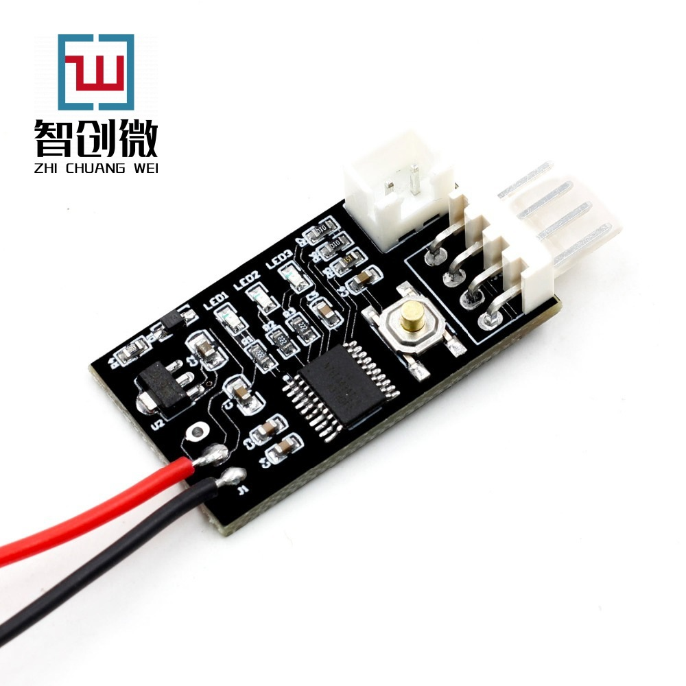 ZHICHUANGWEI VHM-802 single-channel small volume 12V PWM four-wire fan temperature control speed con