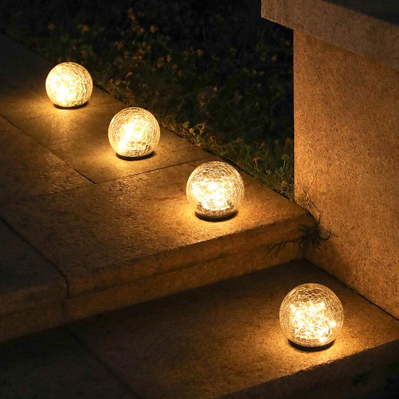 Ladarmoon led solar lawn lights garden garden decoration buried lights Christmas outdoor glass ball