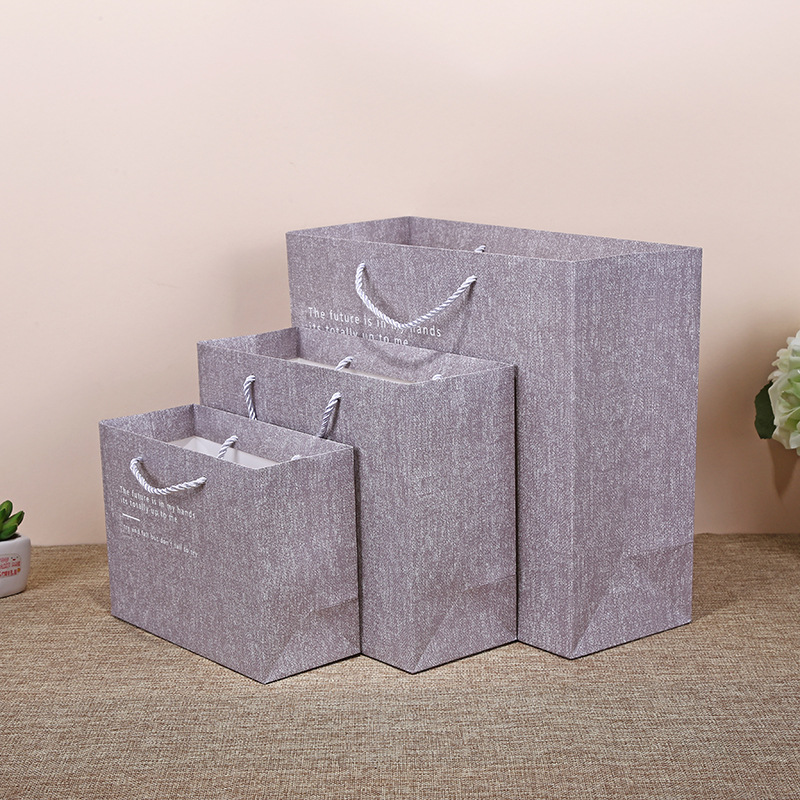 RUIDISI Business texture gift bag frosted texture hand-held paper bag shopping paper bag clothing pa