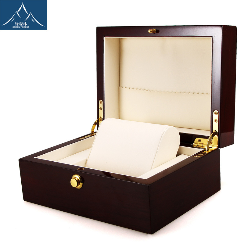 High-end wooden watch packaging box Lacquered wood watch box Gift jewelry box