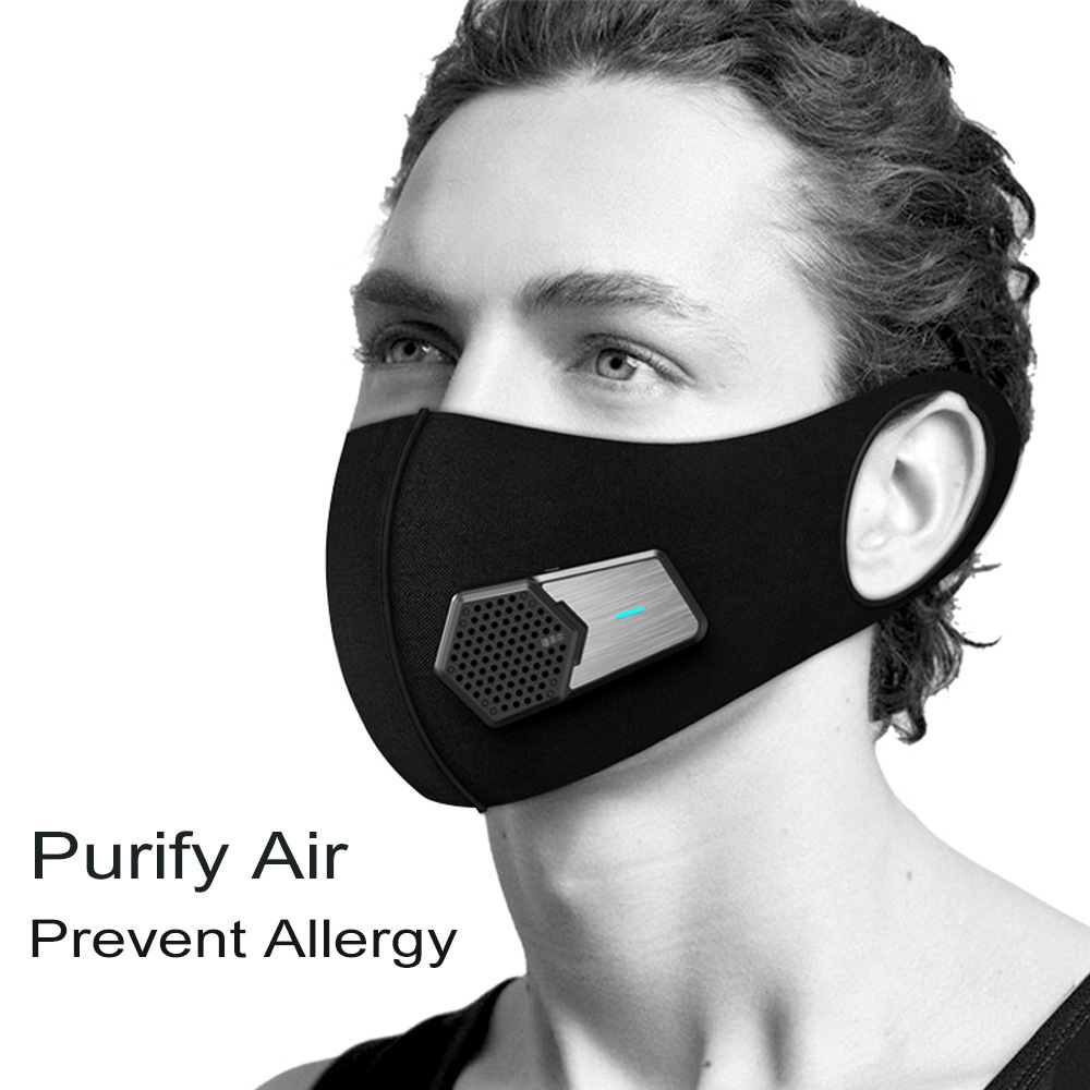 RUISHENGER Smart dust-proof electric mask anti-fog PM2.5 industrial dust breathing protection sports