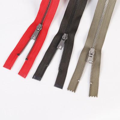 HX Dây kéo kim loại 5 # Nhà máy dây kéo trực tiếp nhôm đầy màu sắc răng dây kéo kim loại Quần áo màu