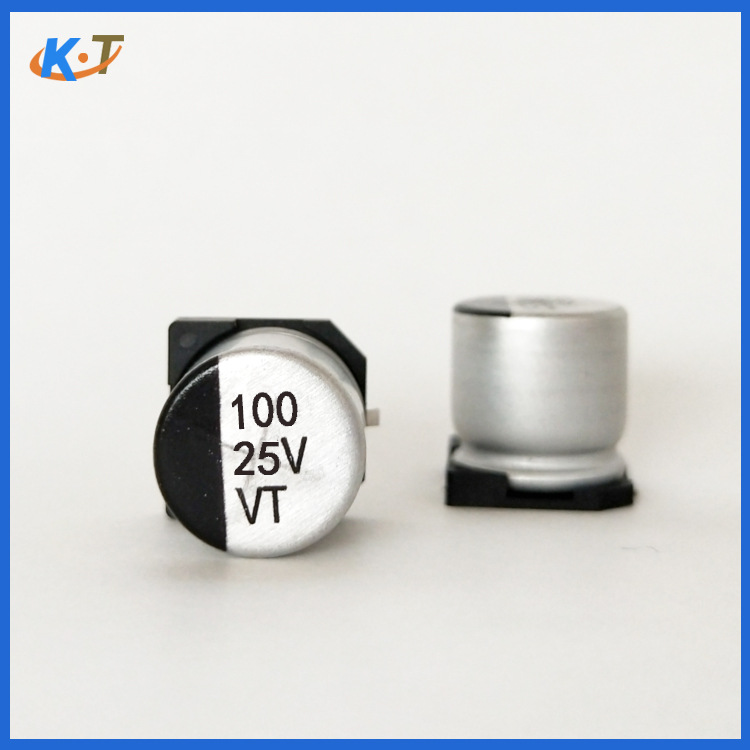 K.T SMD electrolytic capacitor 100uf/25v 6.3X7.7MM electrolytic capacitor