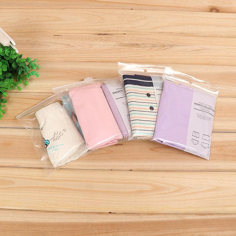 Super transparent PE underwear packaging bag 1-2 independent self-sealing packaging, exquisite print