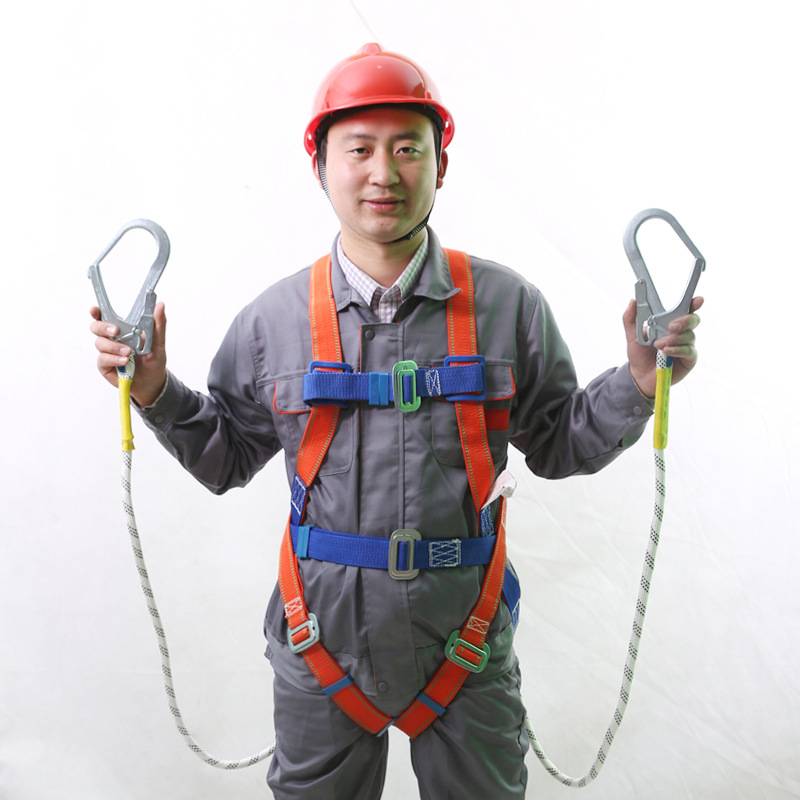 LUPENG Construction safety belts high altitude construction anti-falling double back European-style