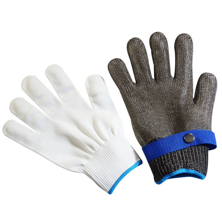 Cut-resistant gloves, carpentry repair, tailoring, metal slaughter, cut-resistant level 5, steel wir