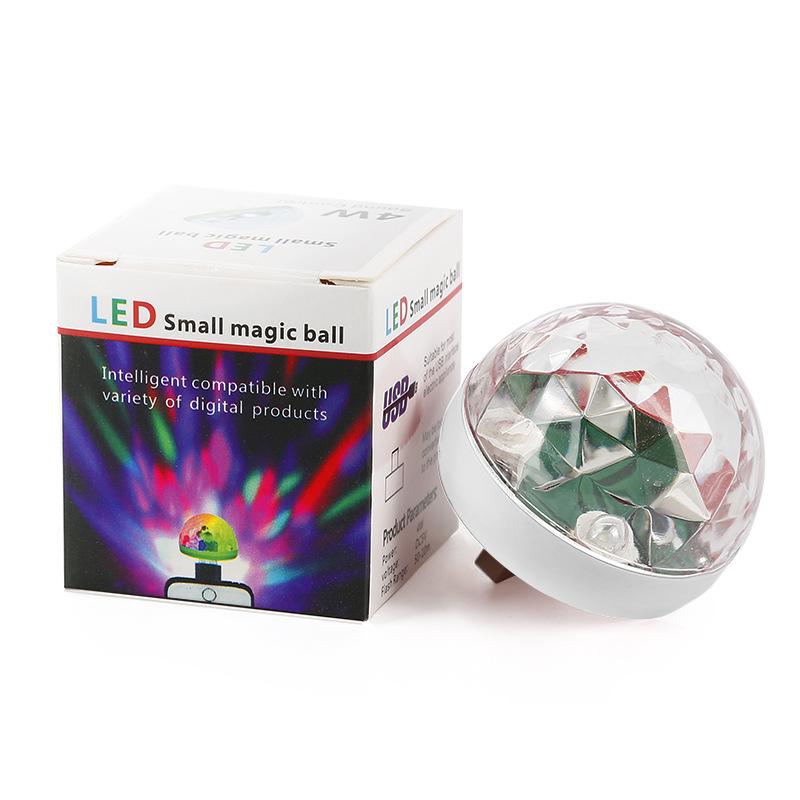 XUANFENG Stage lighting sound control ktv bar concert square dance car led crystal magic ball usb co