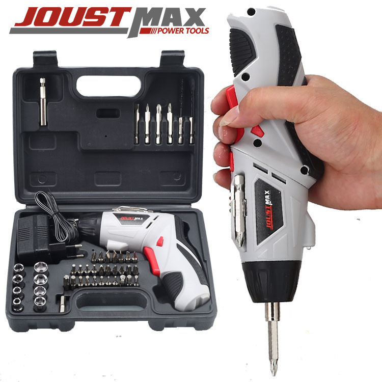 Joustmax 4.8V electric screwdriver, multi-function rechargeable hand drill, electric screwdriver set