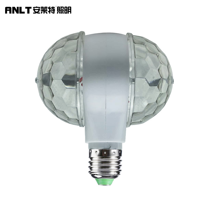ANLAITE Double-headed magic ball, mini stage light, festive atmosphere, 3W6WLED colorful rotating ma
