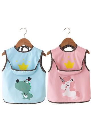 Áo khoác  Áo choàng ăn cho bé, quần áo chống thấm nước cho trẻ em, tạp dề không tay mỏng cho nam và