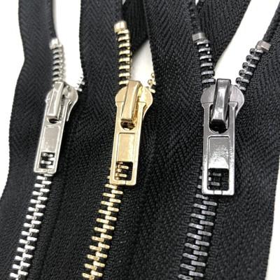 SHENGFA Dây kéo kim loại Dây kéo nhà sản xuất dây kéo kim loại dây kéo số 3 đóng đuôi bạc răng quần