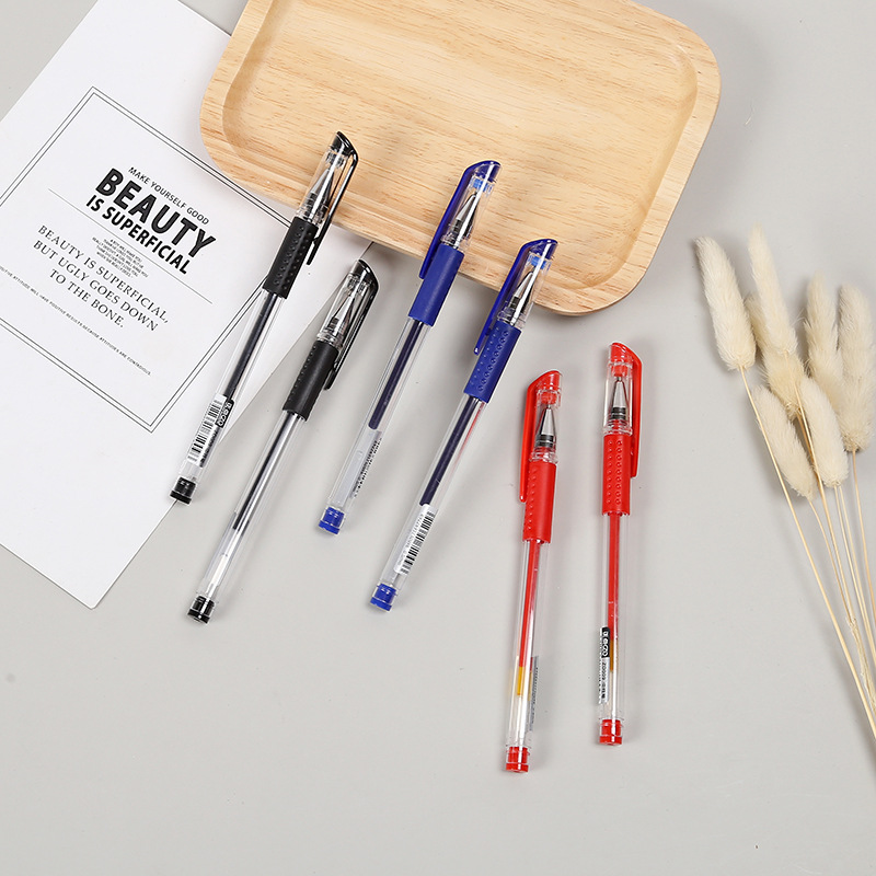Factory wholesale new bullet point business gel pen, student stationery pen