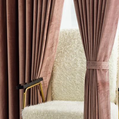 Vải rèm cửa Bắc Âu cách nhiệt gió nhẹ rèm vải nhung sang trọng hoàn thành đơn giản và hiện đại đầy đ