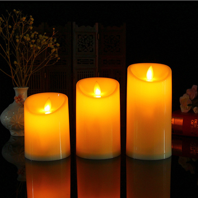 RONGXING led electronic candle light creative wedding wedding bar decoration candle simulation flame