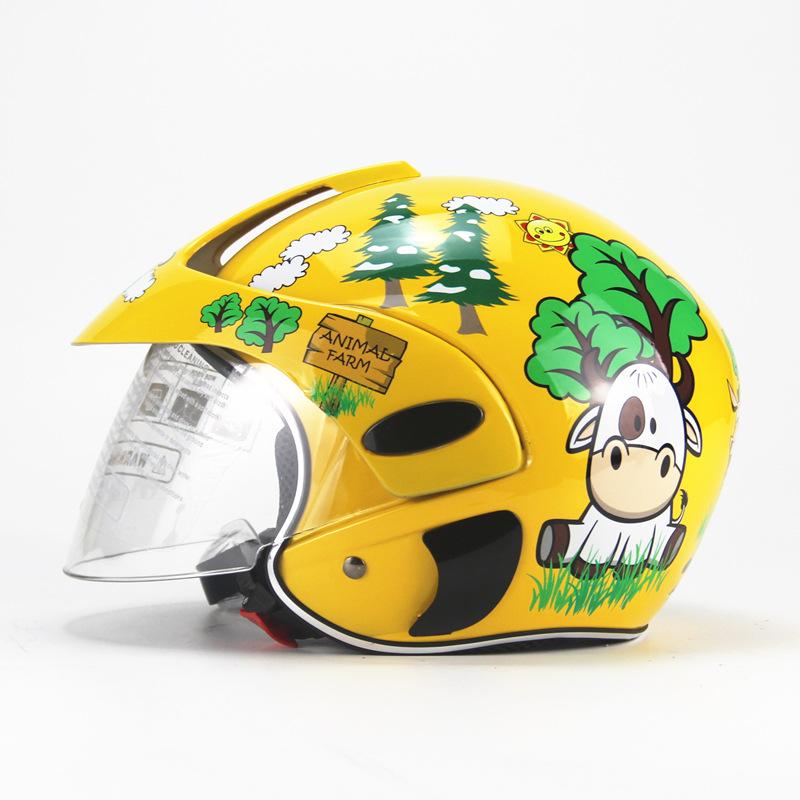 AHP HELMETS Four seasons personality children's helmet electric car half helmet male and female chi