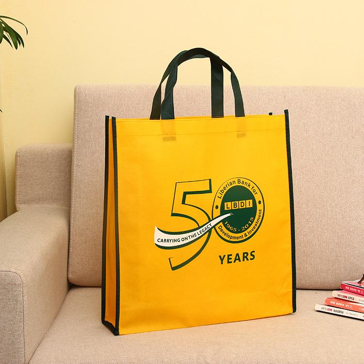 Non-woven bag custom advertising bag exquisite shopping bag new material hot press laminated three-d