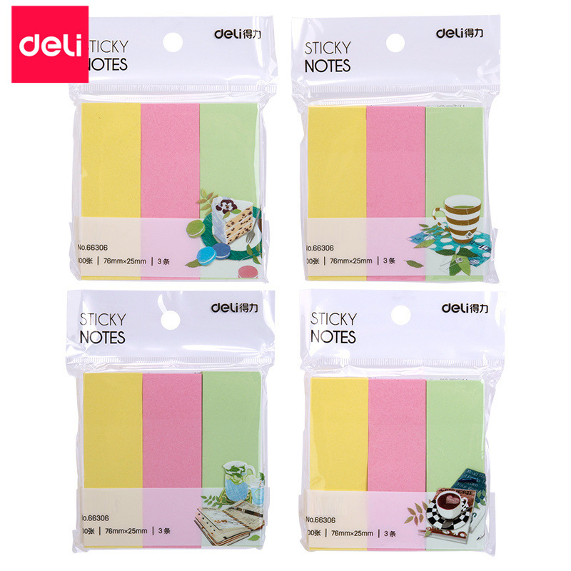 Deli 66306 Post-it notes Message small notebooks Stationery Office supplies Colored paper n-time not