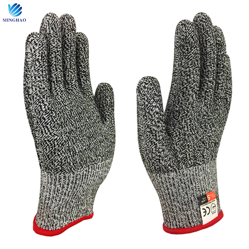 MH HPPE food grade cut-resistant gloves butcher gloves kitchen protective gloves wholesale cut-resis