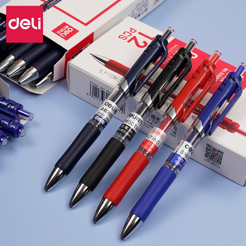DELI Gel pen press 0.5 gel pen, signature pen press pen effective 33388 office supplies students 12