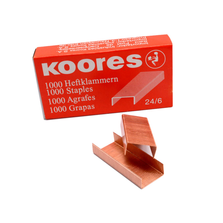 Miwoo Rose Gold Staples No. 12 Universal Staples Office Supplies Korea Copper Stationery