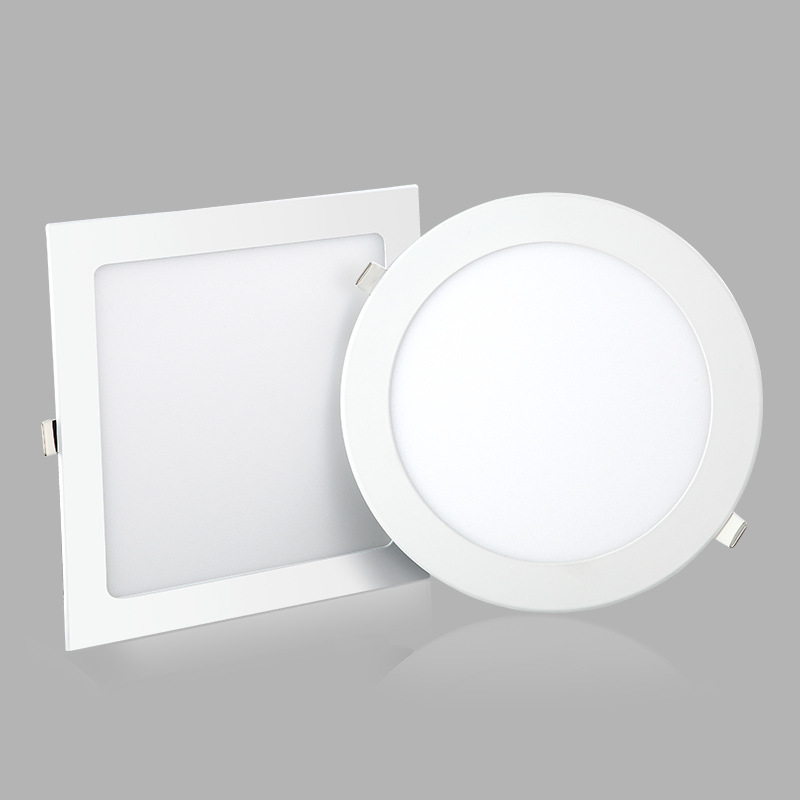 led downlight 3w hole 7.5cm round panel light concealed ceiling light 12 watt square embedded ultra-
