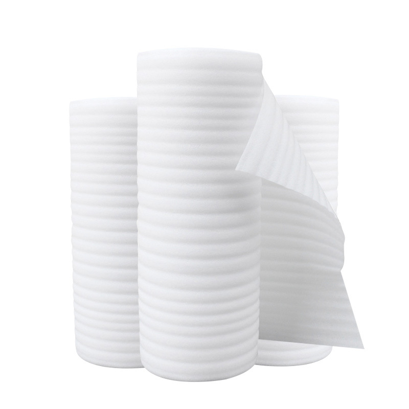 YUANZHI White EPE pearl cotton roll material, shockproof packaging foam pearl cotton, waterproof pea