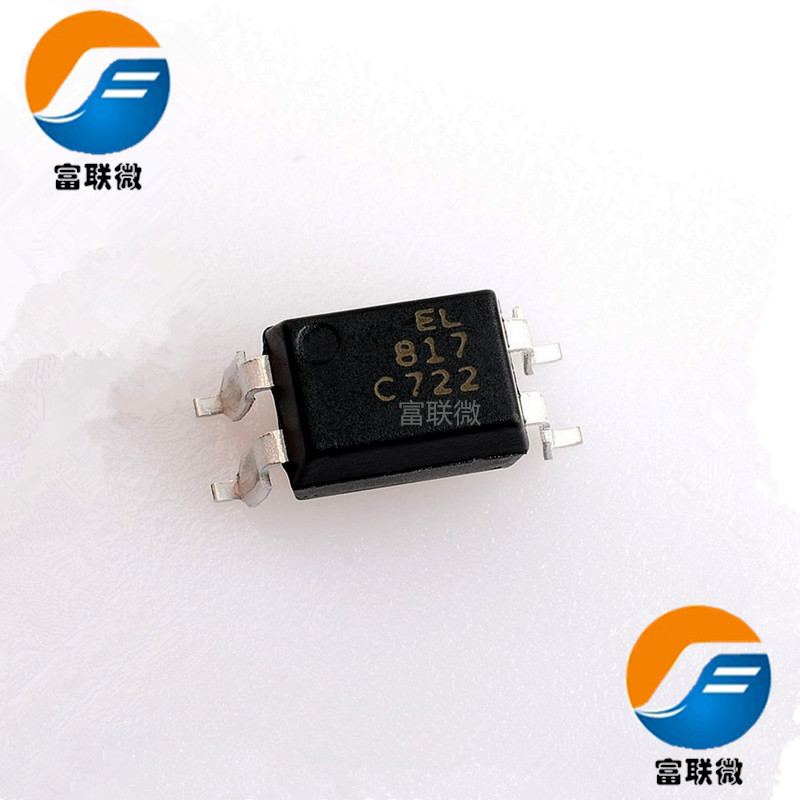EL New optocoupler EL817C PC817 C file straight plug DIP-4 optocoupler isolator chip