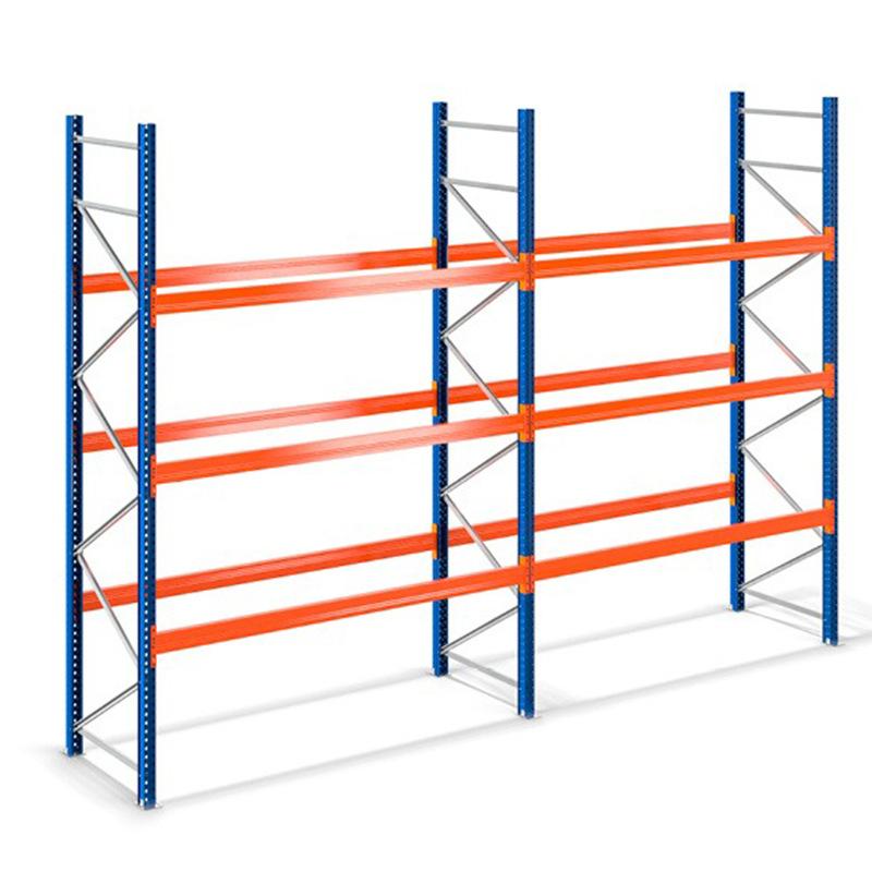 HongRi [HongRi] multi functional warehouse heavy shelf thickened beam type large storage rack iron r