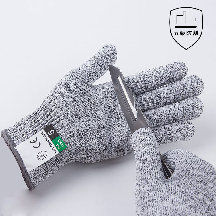 ZP Factory direct sale grade 5 HPPE cut resistant gloves cut resistant gloves grade slaughter kitche