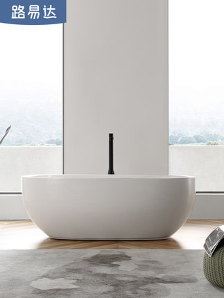 Bồn tắm Louisda kiểu dáng bầu tròn đơn giản cho hộ gia đình .