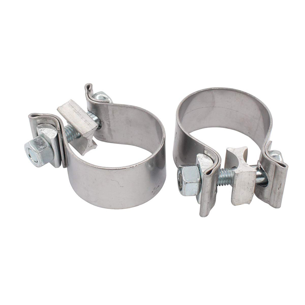 YOKOTO Applicable to 45mmo type exhaust pipe clamp of Harley model, stainless steel strong pipe hoop
