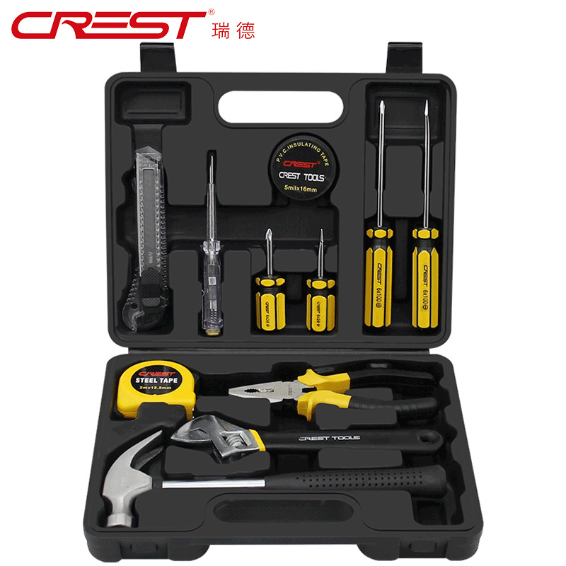 CREST Hardware tool combination household manual screwdriver set home maintenance set gift kit custo