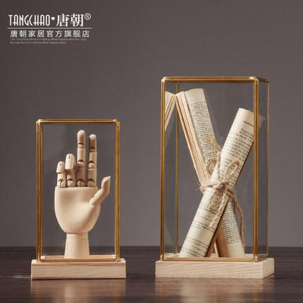 Đồ trang trí bằng gỗ  Mỹ trang trí bằng kính sáng tạo kiểu châu Âu giá sách văn phòng bàn học cửa hà
