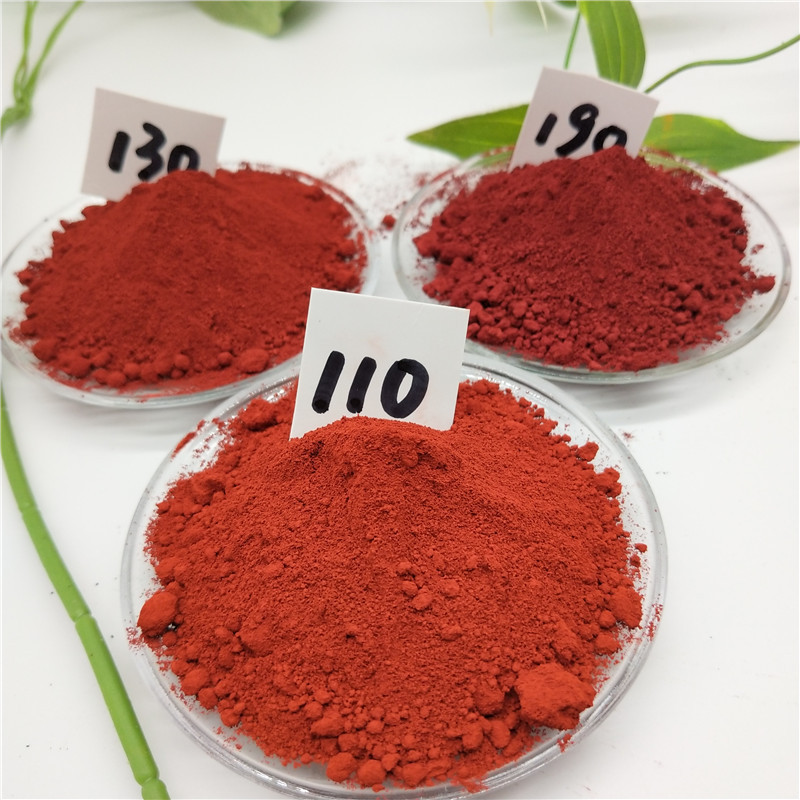 Factory direct hair iron oxide red pigment, color brick paint floor with iron red powder, red inorga
